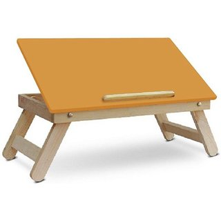 IBS Colorwood Sneea Full open foldable Solid Wwood Portable Laptop Table  (Finish Color - Orange)