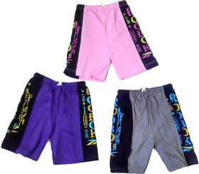 Kavya Fashion Boys Hosiery Bermuda Set of 3 Pieces