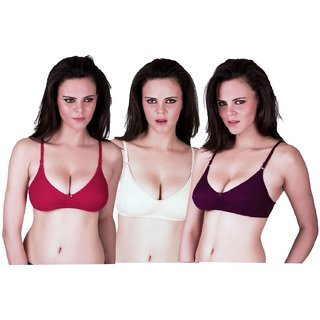 e2a144ca47 Buy Slr fashion black white and red bra set of 3 Online - Get 65% Off
