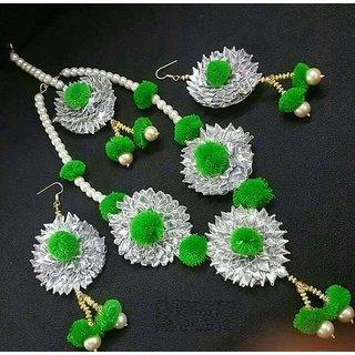 Gotta Patti Jewellery Green