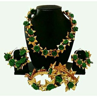 Gotta Patti Jewellery Green And Golden