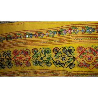 Embroidery hand work Dupatta with mirror work