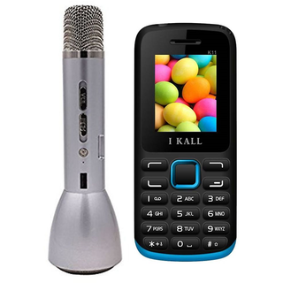 IKALL Wireless Bluetooth Multi Functional Mike Speaker With Mobile Phone Combo  (No Earphones)