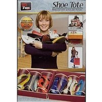 Shoe Tote Organizer To Hold 6 Pair Of Shoes - Portable Travel Pouch for carrying