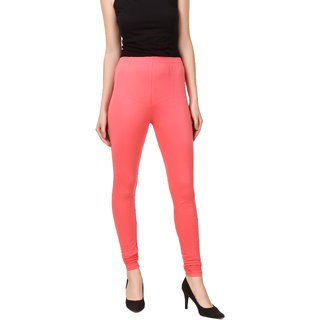 PRASITA Women's Cotton Lycra Churidar Leggings PEACH