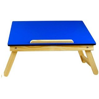IBS Plain MDF Color Enngineered Wood Portable Laptop Table  (Finish Color - Blue)