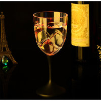 Luxury LED Colorful Dedicated Luminous Cocktail Wine Beer Cup Mug Glass For Club Bar Party With 8 Flashing Mode
