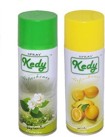 Spay Air freshner Set of 2  Jasmine  Lemon Water based Ecofriendly