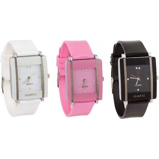 True Choice Trendy Look Combo Of 3 Analog Watch - For Girls