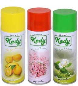Spray Air freshner Gel 3 pcs Set Lemon Rose  Jasmine Long lasting Ecofrendly This special water based formulation
