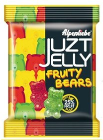Alpenliebe Juzt Jelly Fruity Bears Pouch 72.8 G (Pack of 6)