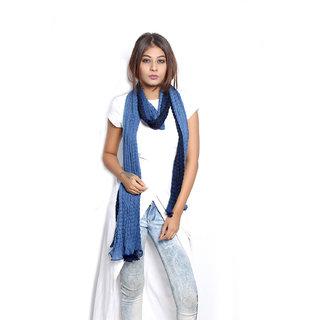 Grishti Womens Navy Blue Ombre Scarf