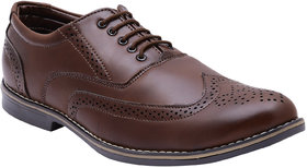 Rexler Brown Formal Shoes For Men -Rexler-FR-3104-Brn