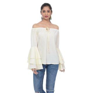 59091c87430036 Buy Sounds Swell bell sleeve off shoulder top Online - Get 20% Off