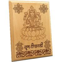 Engraved Wooden Laxmi Ji Murti