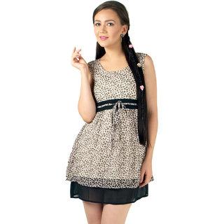 Magnetic Designs Leapord Printed Cute Dress