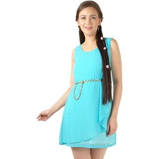 Magnetic Designs Aqua Basic Dress with belt