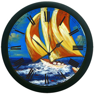meSleep Storm Ship Wall Clock (With Glass)