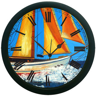 meSleep Ocean Ship Wall Clock (With Glass)