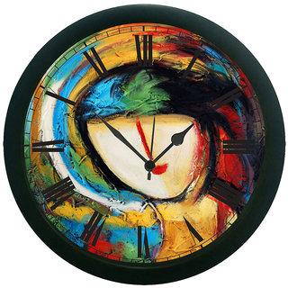 meSleep Painted Face Wall Clock (With Glass)