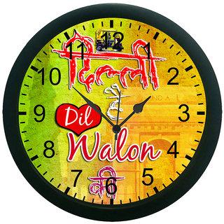 meSleep Delhi Hai dil walon ki 3D Wall Clock (With Glass)