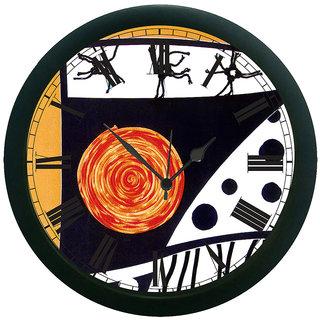 meSleep Abstract Wall Clock (With Glass)