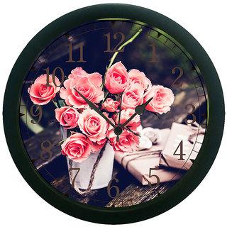 meSleep Flower pot 3D Wall Clock (With Glass)
