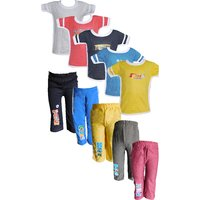 Jisha Fashion Boys Tshirt  Track Pant (AHTP)(Combo of 5)