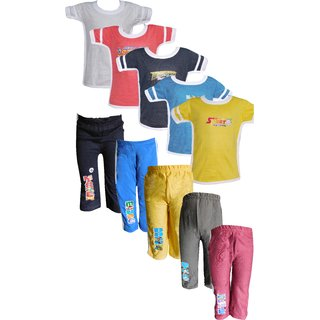Jisha Fashion Boys Tshirt  Track Pant (AHTP)(Combo of 5)