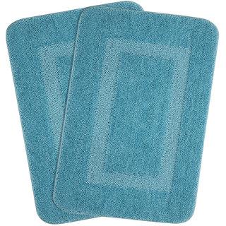 Combo of Saral Home Soft Microfiber Bathmat Set of 2 pc -45x70 cm