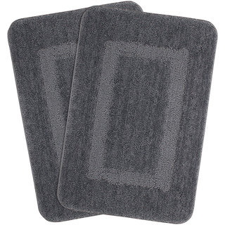 Combo of Saral Home Soft Microfiber Bathmat Set of 2 pc -45x70 cm