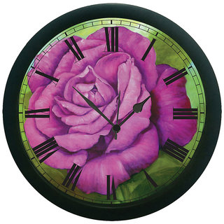 meSleep Purple Rose Wall Clock (With Glass)