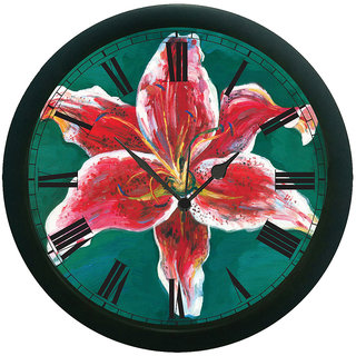 meSleep Red Tulip Wall Clock (With Glass)
