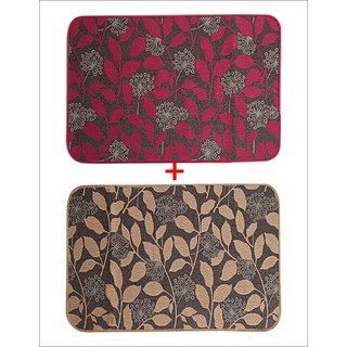 Combo of Saral Home Cotton Floor Mat Set of 2 pc -50x80 cm