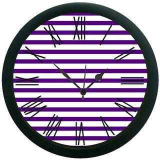meSleep Mauve Stripes Wall Clock (With Glass)