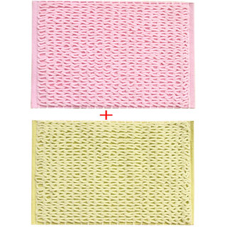 Combo of Saral Home Soft Microfiber Bathmat Set of 2 pc -45x65 cm