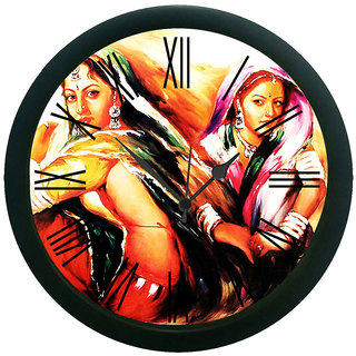 meSleep 2 village Girl Wall Clock (With Glass)