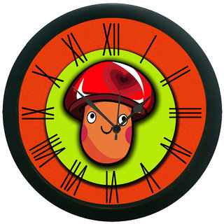 meSleep Mustard Face Wall Clock (With Glass)