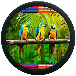 meSleep parrot Digitally Printed Wall Clock (With Glass)