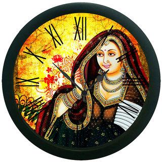 meSleep Rani Wall Clock (With Glass)