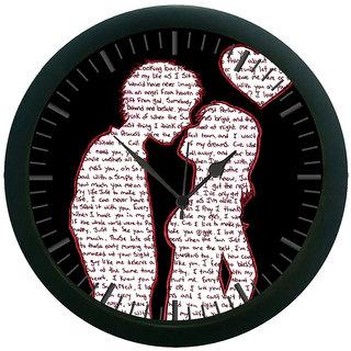 meSleep Love 3D Wall Clock (With Glass)