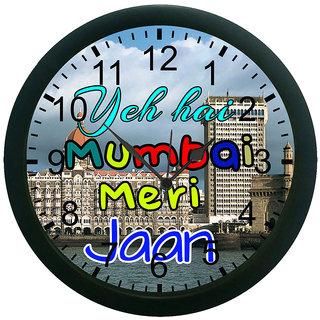 meSleep Mumbai Meri Jaan 3D Wall Clock (With Glass)