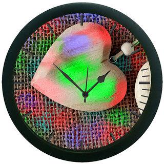 meSleep Heart Digitally Printed Wall Clock (With Glass)