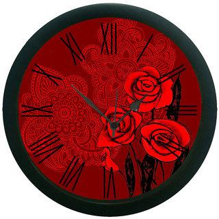 meSleep Deep Roses Wall Clock (With Glass)