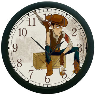 meSleep Cow Boy 3D Wall Clock (With Glass)