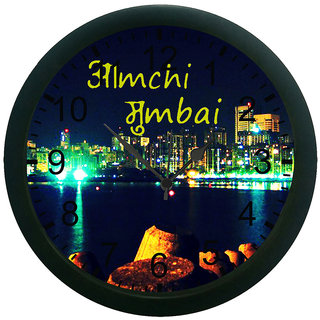meSleep Amchi Mumbai 3D Wall Clock (With Glass)