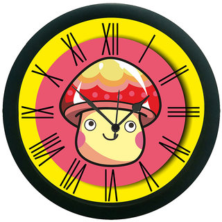 meSleep Yellow Face Wall Clock (With Glass)