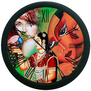 meSleep Peacock Lady Wall Clock (With Glass)