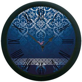meSleep Blue pattern Wall Clock (With Glass)
