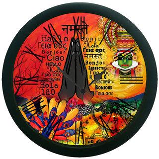 meSleep Namaste Wall Clock (With Glass)